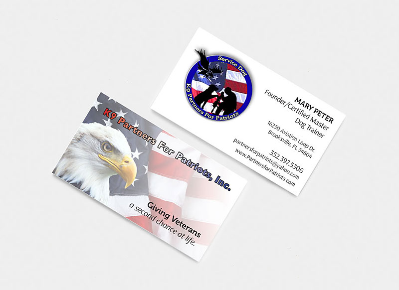 K9 Partners for Patriots Custom Design Business Card